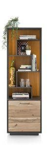 XOOON - Cenon, Boekenkast 1-deur + 5-niches (+ Led)