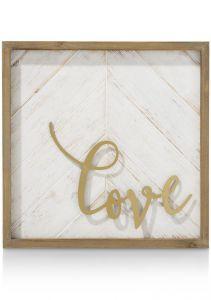 Wanddecoratie Love - 40 X 40 Cm
