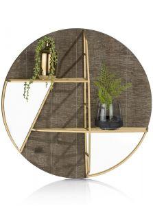 Wandplank & Spiegel Amy - Diameter 55 Cm