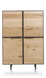 H&H - Pedro, Bergkast 120 Cm - 4-deuren + 2-laden (binnenin)