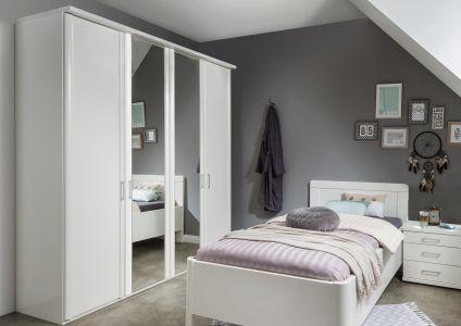 Draaideurkast Bern - 4 deuren (2 spiegeldeuren)