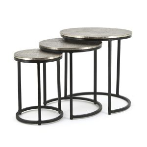 by-boo 1633 coffeetable set trapeze - round