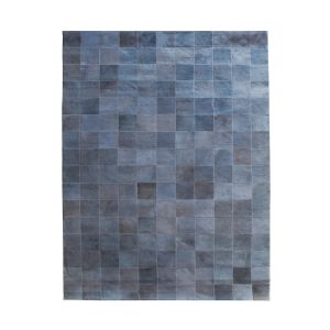 by-boo 6243 carpet patchw. leather 160x230 cm-grey