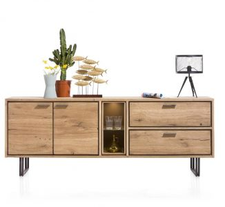 XOOON - Denmark, Dressoir 210 Cm - 2-deuren + 2-laden + 2-niches (+led)