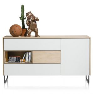 XOOON - Darwin, Dressoir 160 Cm - 1-deur + 3-laden + 1-niche (+ Led)