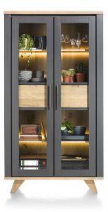 H&H - Jardin, Vitrine 110 Cm - 2-glasdeuren + 2-laden (binnenin) (+ Led)