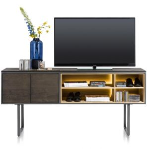 XOOON - Moniz, Tv-kast Hoog 180 Cm - 2-deuren + 4-niches