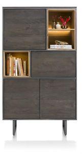 XOOON - Moniz, Bergkast 100 Cm - 4-deuren + 3-niches (+ Led)