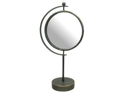 mirror metal grey h44x22.5x12.5cm