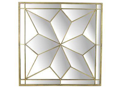mirror metal gold h84x84x3.5cm