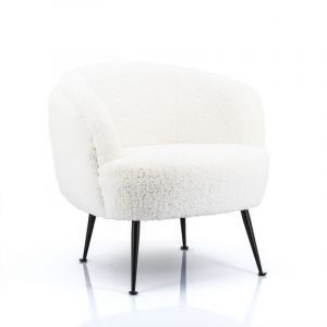 fluffy fauteuil wit