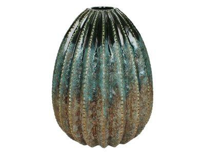vase stoneware blue 25,3x20,3cm