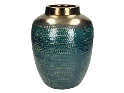 vase ceramic blue 30x23cm