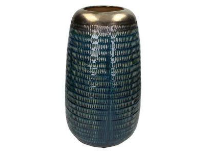 vase ceramic blue 43x25cm