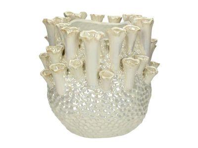 vase fine earthenware ivory