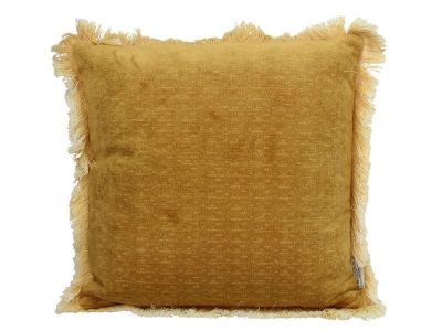 cushion polyester yellow h45xb45cm
