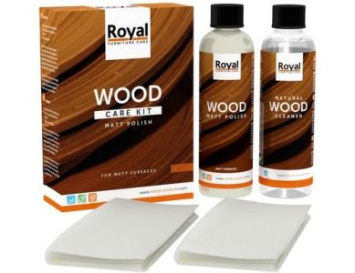 Wood Care Kit Matt Polish - 2x 75 ml
