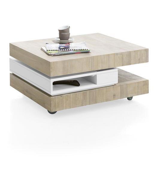 H&H - Multiplus, Salontafel 80 X 70 Cm 3-lagen + 4-niches