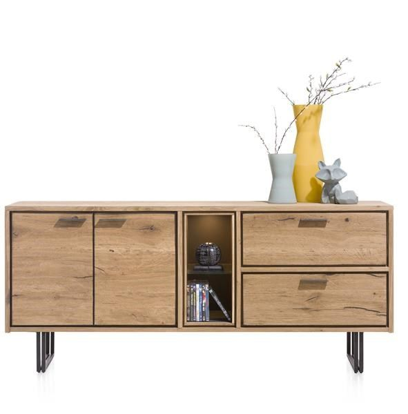XOOON - Denmark, Dressoir 180 Cm - 2-deuren + 2-laden + 2-niches (+led)