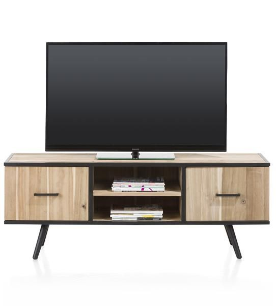 XOOON - Kinna, Tv-dressoir 150 Cm - 1-deur + 1-lade + 2-niches