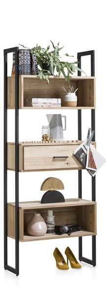 XOOON - Kinna, Boekenkast 80 Cm - 1-lade + 5-niches