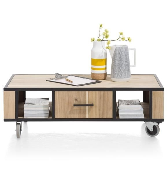 XOOON - Kinna, Salontafel 110 X 60 Cm + 1-lade T&t + 2-niches
