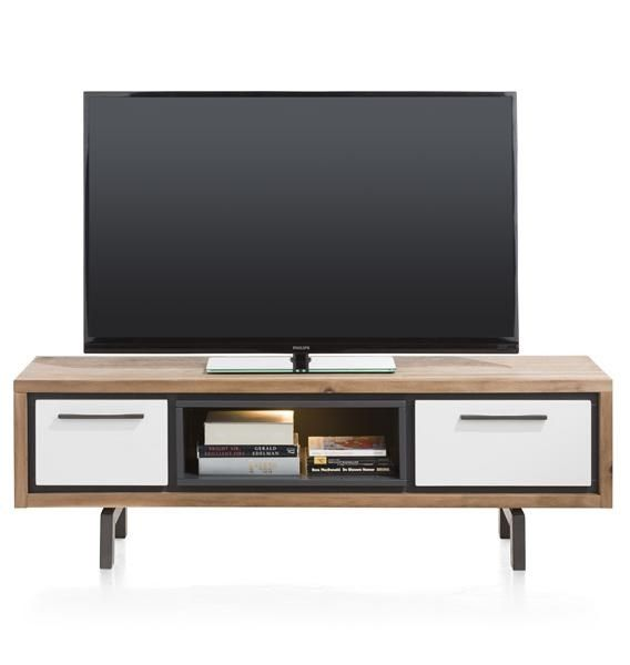 XOOON - Otta, Tv-dressoir 140 Cm - 1-lade + 1-klep + 1-niche (+ Led)