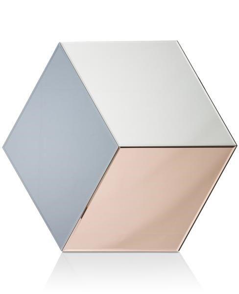 H&H - Wandspiegel Cubus - 70 X 60 Cm
