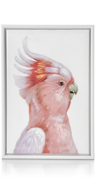 Schilderij Fancy Parrot Pink - 45 X 65 Cm
