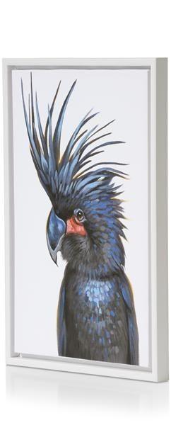 Schilderij Fancy Parrot Black - 45 X 65 Cm