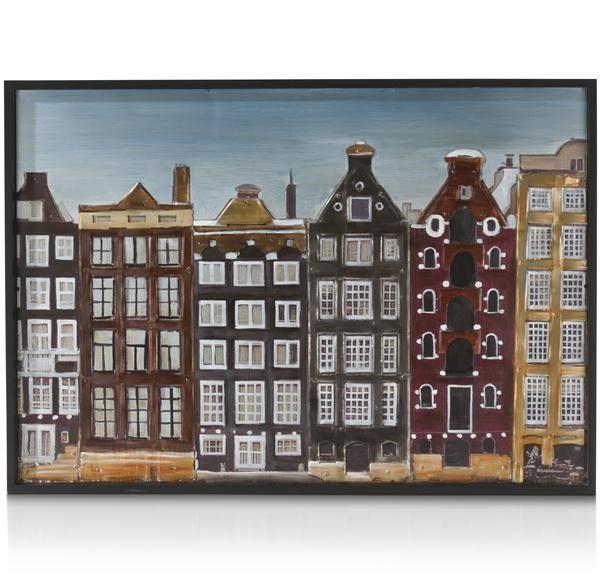 Schilderij Amsterdam - 70 X 100 Cm