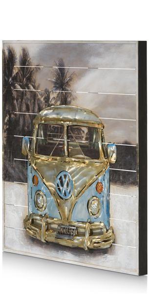 Schilderij Beach Van - 75 X 75 Cm