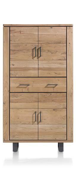H&H - Quebec, Bergkast 110 Cm - 4-deuren + 1-lade
