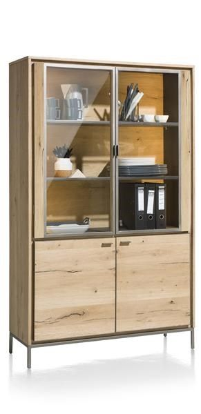 XOOON - Faneur, Vitrine 110 Cm - 2-glasdeuren + 2-deuren (+ Led)