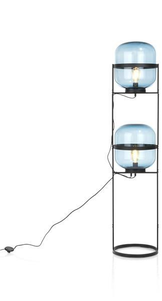 Liam, Vloerlamp - Diameter 30 Cm - 2-lamps