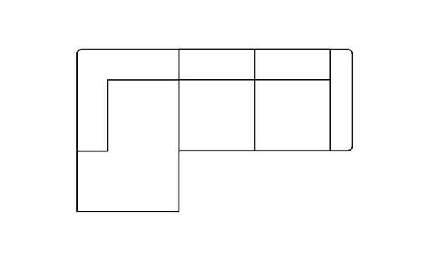 H&H - Zembla, 2,5-zits + Longchair Links