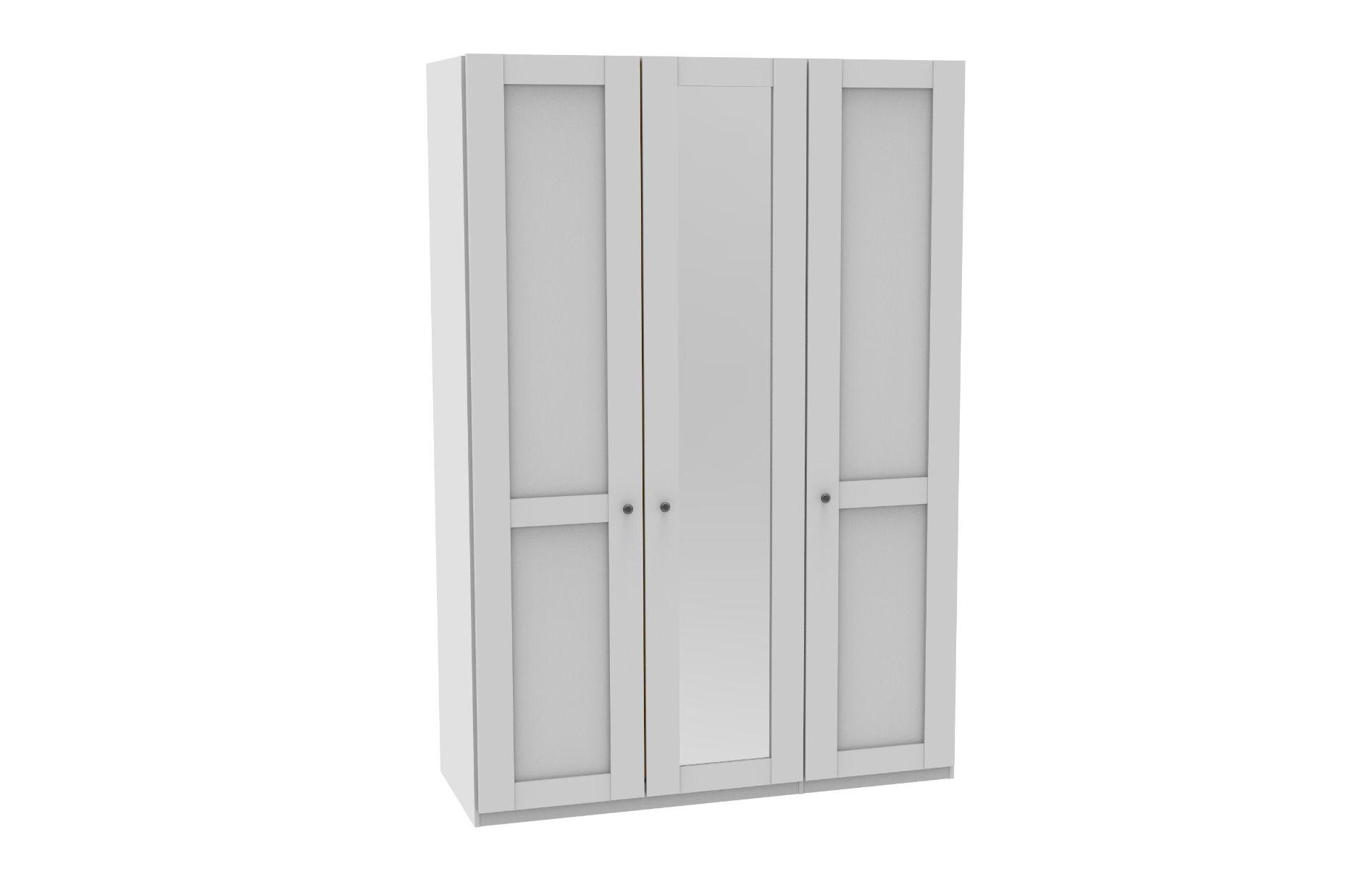 Draaideurkast Sloane - 3 deuren (1 spiegeldeur)