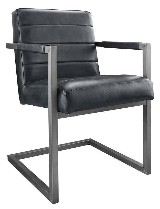armstoel cadira met 4 stroken zwart