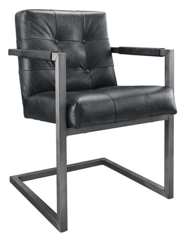 armstoel cadira met knopen zwart