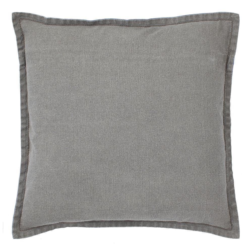 sierkussen bouton grijs