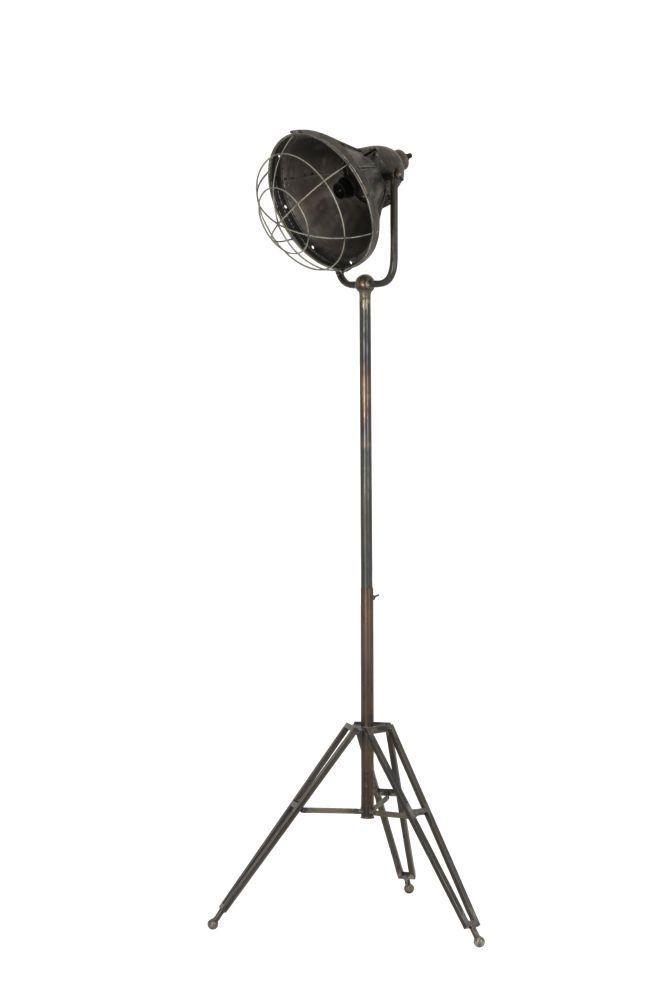 vloerlamp damyan old bronze 142cm