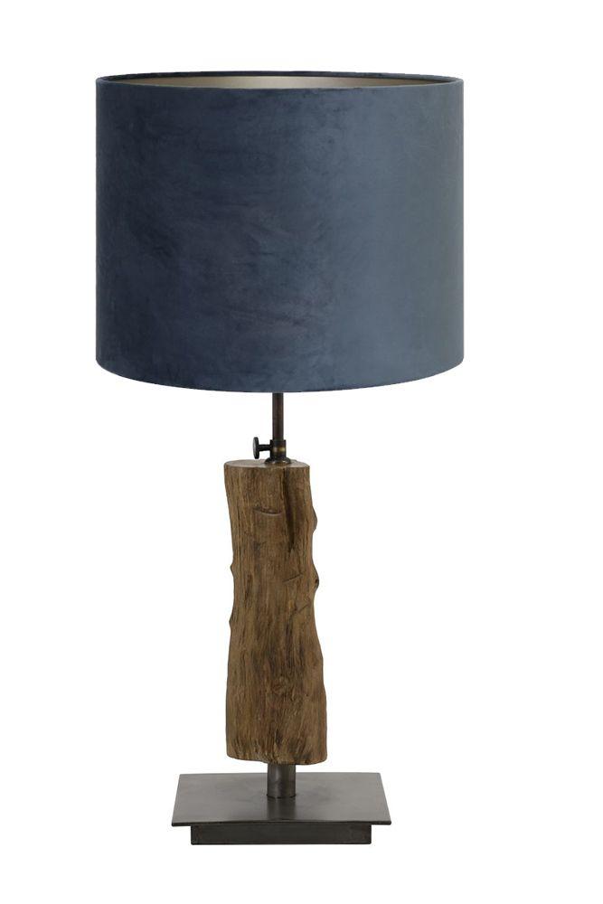 tafellamp + kap velours