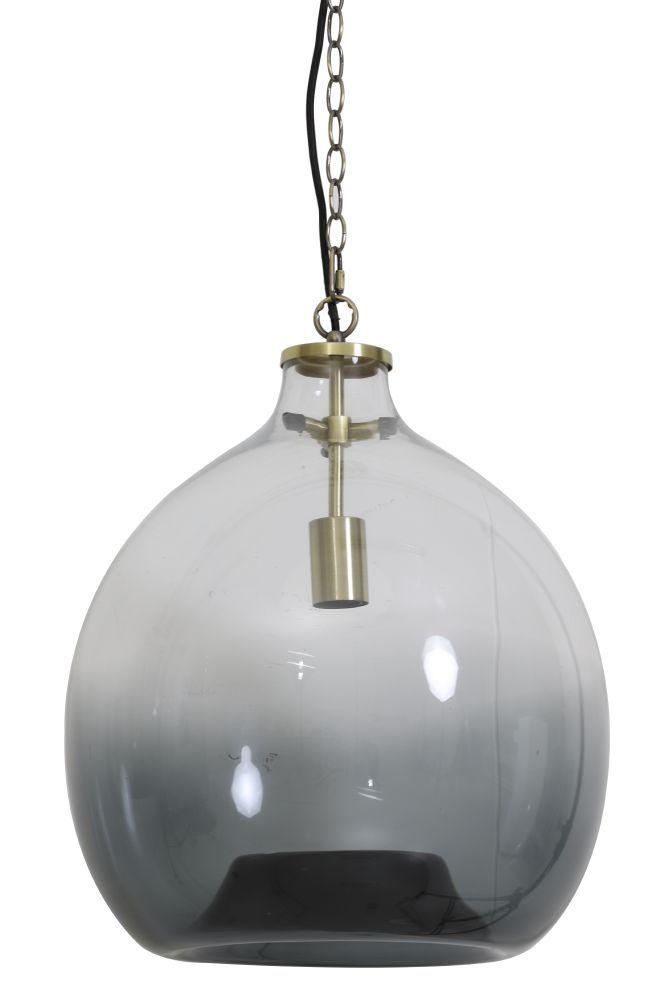 hanglamp genivy smoke koper diam. 45cm