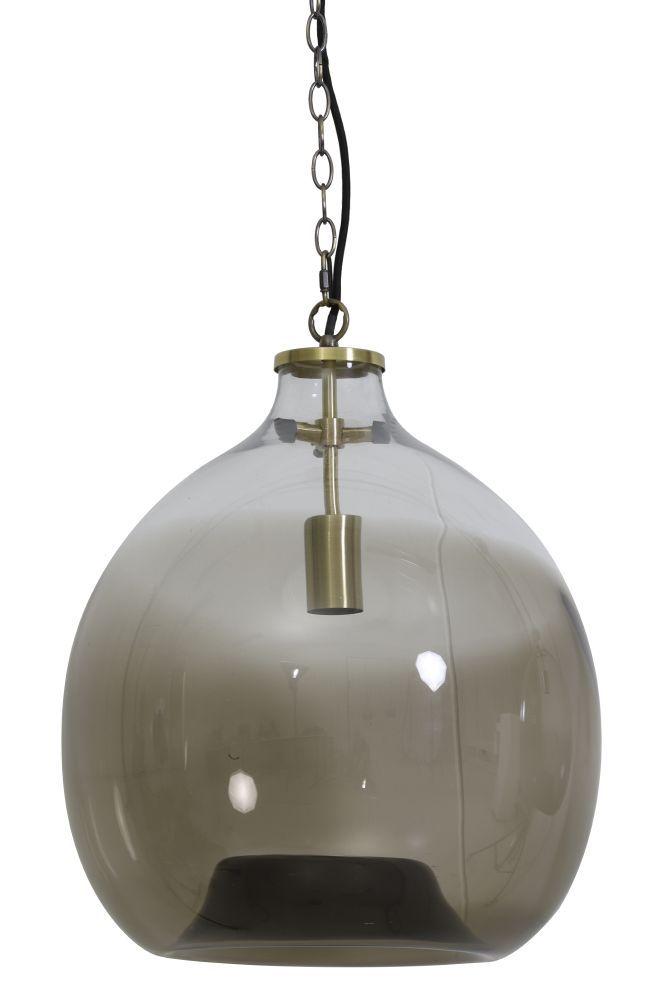 hanglamp genivy bruin koper diam. 45cm