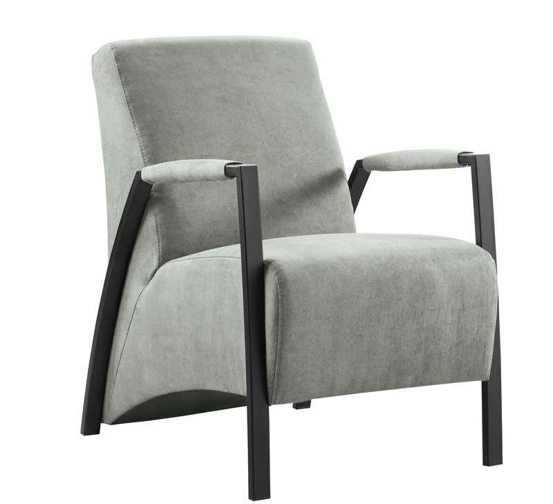 fauteuil grandola microleder steel